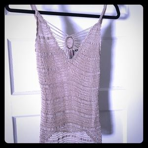 Really cute crochet tank style top, fitted medium